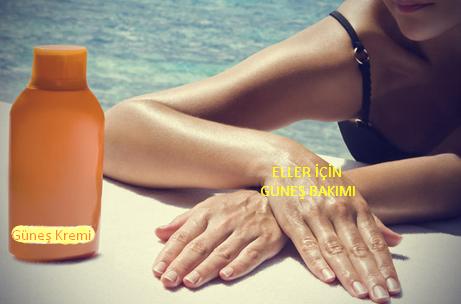 eller için güneş kremi